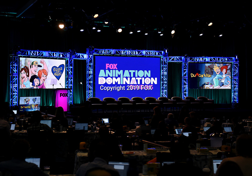 2019 FOX SUMMER TCA: Behind the scenes during the ANIMATION DOMINATION: BLESS THE HARTS/DUNCANVILLE panel at the 2019 FOX SUMMER TCA at the Beverly Hilton Hotel, Wednesday, Aug. 7 in Beverly Hills, CA. CR: Frank Micelotta/FOX/PictureGroup