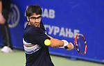 TENIS, BEOGRAD, 17. Feb. 2010. -  Srpski teniser Janko Tipsarevic tokom meca protiv Krlistijan Ples iz Danske u okviru 1. kola Gemax MTS Open 2009. Foto: Nenad Negovanovic