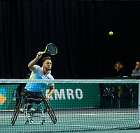Rotterdam, The Netherlands, 14 Februari 2020, ABNAMRO World Tennis Tournament, Ahoy, <br /> Wheelchair Doubles: Nicolas Peifer (FRA).<br /> Photo: www.tennisimages.com