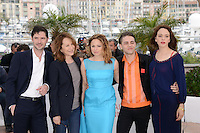 "Melvil Poupaud, Nathalie Baye, Suzanne Clement, Xavier Dolan and Monia Chokri attending the ""Laurence Anyways"" Photocall during the 65th annual International Cannes Film Festival in Cannes, France, 19th May 2012...Credit: Timm/face to face /MediaPunch Inc. ***FOR USA ONLY***"