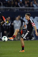 Chris Korb (22) defender D.C Utd in action..Sporting Kansas City defeated D.C Utd 1-0 at Sporting Park, Kansas City, Kansas.