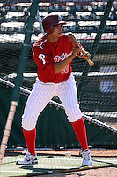 May 29th 2008:  Carlos Carrasco of the Reading Phillies, Class-AA affiliate of the Philadelphia Phillies, during a game at Jerry Uht Park in Erie, PA.  Photo by:  Mike Janes/Four Seam Images