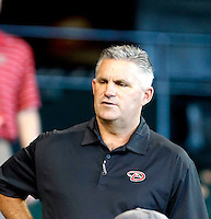 Kevin Towers - Arizona Diamondbacks - 2010 Instructional League. Towers, the new General Manager of the Arizona Diamondbacks, watching the Diamondbacks play the Rockies in the annual Instructional League game at Chase Field, Phoenix, AZ - 10/07/2010.Photo by:  Bill Mitchell/Four Seam Images..