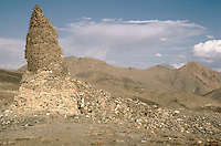 Menar e Chakari, 15 Kilometres South of Kabul. A Buddhist Menar collapse early 1999..Build between the I and the II century AC, with a base of  20 meters of diameters and 27 meters high.