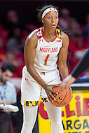College Park, MD - DEC 6, 2016: Maryland Terrapins guard Ieshia Small (1) in action during game between Towson and Maryland at XFINITY Center in College Park, MD. The Terps defeated the Tigers 97-63. (Photo by Phil Peters/Media Images International)