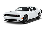 2016 Dodge Challenger Scat-Pack 2 Door Coupe Angular Front stock photos of front three quarter view
