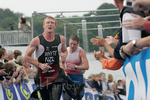 15 JUL 2007 - LORIENT, FRA - Jamie Whyte (NZL) - World Long Distance Triathlon Championships. (PHOTO (C) NIGEL FARROW)