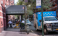 New York City, New York, Coronavirus in New York. With car accidents and injuries down most ambulance calls are for COVID19 patients. 4/8/20