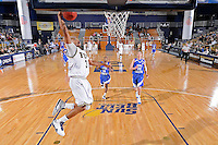 25 February 2010:  FIU's Tremayne Russell (3) puts up a shot late in the second half as the Middle Tennessee Blue Raiders defeated the FIU Golden Panthers, 74-71, at the U.S. Century Bank Arena in Miami, Florida.