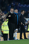 5th November 2017, Goodison Park, Liverpool, England; EPL Premier League Football, Everton versus Watford; Everton caretaker David Unsworth with Wayne Rooney of Everton at the final whistle after his side take the three points
