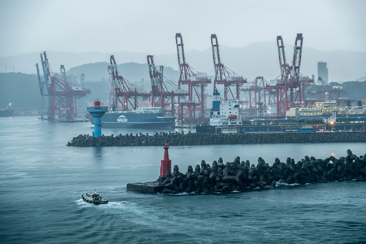 Keelung is one of Taiwan's busiest container ports, thanks to its long deep water harbor.