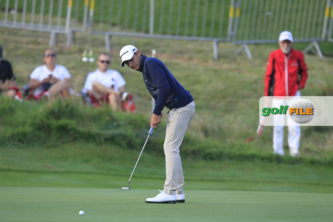 Joakim Lagergren (SWE) on the 10th green during Round 1 of the Made in Denmark 2016 at the Himmerland Golf Resort, Farso, Denmark on Thursday 25th August 2016.<br /> Picture:  Thos Caffrey / www.golffile.ie<br /> <br /> All photos usage must carry mandatory copyright credit   (&copy; Golffile | Thos Caffrey)