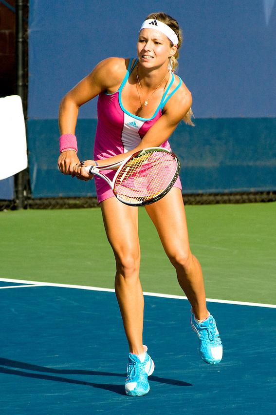 Maria Kirilenko (RUS) [25] defeats Ekaterina Makarova (RUS) 4-6, 6-1. 7-6 (7-3) in the first round of the US Open on Monday, August 29, 2011.