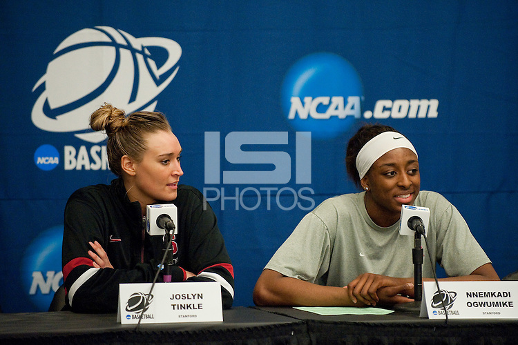 NORFOLK, VA--First round play against Hampton University at the Ted Constant Convocation Center at Old Dominion University in Norfolk, VA in the 2012 NCAA Championships. The Cardinal advanced with a 73-51 win to play West Virginia on Monday, March 19.