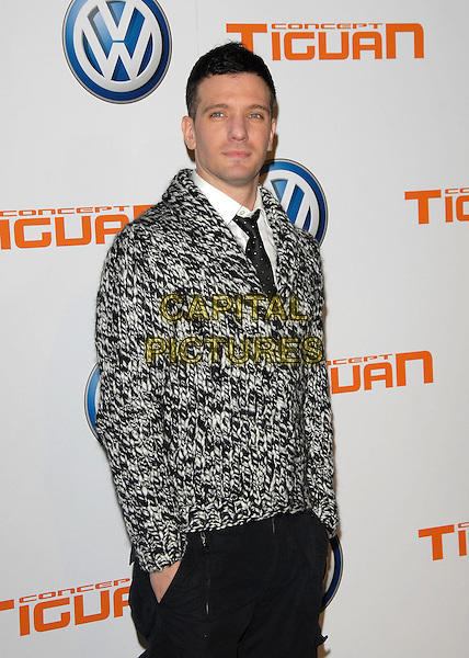JC CHASEZ.attends Volkswagen US Premiere of Concept Tiguan held at Raleigh Studios in Los Angeles, California, USA,.November 28, 2006..half length black and white patterned print jacket tie .CAP/DVS.©Debbie VanStory/Capital Pictures