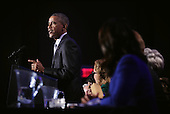 United States President Barack Obama speaks during the General Session of the 2015 DNC Winter Meeting February 20, 2015 in Washington, DC. President Obama addressed the event and participated in a roundtable discussion.<br /> Credit: Alex Wong / Pool via CNP