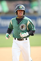 April 11 2010: Mike Gilmartin of the Kane County Cougars at Elfstrom Stadium in Geneva, IL. The Cougars are the Low A affiliate of the Oakland A's. Photo by: Chris Proctor/Four Seam Images
