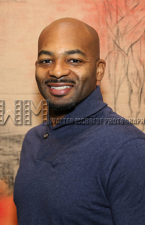 Brandon Victor Dixon attends The Vineyard Theatre's Emerging Artists Luncheon at The National Arts Club on November 9, 2017 in New York City.