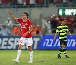 Maaran Lala celebrates scoring the winning goal for Hapoel