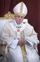 Pope Francis  during a Corpus Domini procession between the basilicas San Giovanni in Laterano and Santa Maria Maggiore on in Rome.19 june 2014