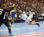 12.01.2019, Mercedes Benz Arena, Berlin, GER, Germany vs. Brazil, im Bild <br /> Jannik Kohlbacher (GER #48), Leonardo Tercariol (BRA #62)<br /> <br />      <br /> Foto &copy; nordphoto / Engler
