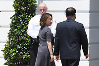 Kim Yong Chol, former North Korean military intelligence chief and one of leader Kim Jong Un's closest aides, arrives at the White House in Washington on Friday, June 1, 2018. <br /> CAP/MPI/RS<br /> &copy;RS/MPI/Capital Pictures