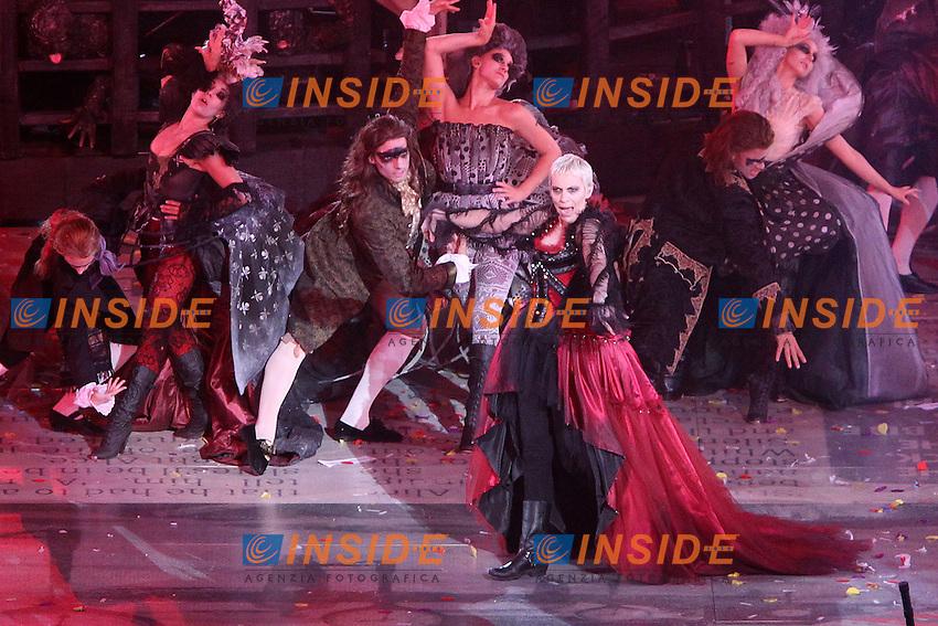 Annie Lennox.Londra 12/08/2012 Olympic Stadium.London 2012 Olympic Games Closing Ceremony.Olimpiadi Londra 2012 Cerimonia d chiusura.Foto Insidefoto Paolo Nucci.