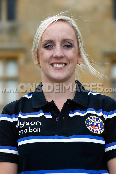 Becky Pocock poses for a portrait at a Bath Rugby photocall. Bath Rugby Media Day on August 28, 2014 at Farleigh House in Bath, England. Photo by: Rogan Thomson for Onside Images