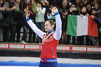 SHORT TRACK: TORINO: 15-01-2017, Palavela, ISU European Short Track Speed Skating Championships, Podium Overall Ladies, Sofia Prosvirnova (RUS), ©photo Martin de Jong