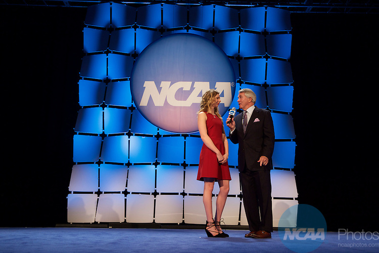 15 JAN 2016:  The NCAA Honor's Celebration takes place during the 2016 NCAA Convention at the Grand Hyatt San Antonio in San Antonio, TX.   Jamie Schwaberow/NCAA Photos  (Pictured:  Anastasia Bogdanovski)