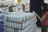 Johnson's Baby in the first supercenter of Wal-Mart in Beijing, China..18 May 2005