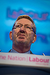 © Joel Goodman - 07973 332324 . 23/09/2013 . Brighton , UK . General Secretary of Unite Union , LEN MCCLUSKEY , during the Work and Business session . Day 2 of the Labour Party 's annual conference in Brighton . Photo credit : Joel Goodman