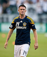 CARSON, CA – August 20, 2011: LA Galaxy forward Robbie Keane (14) prior to the match between LA Galaxy and San Jose Earthquakes at the Home Depot Center in Carson, California. Final score LA Galaxy 2, San Jose Earthquakes 0.