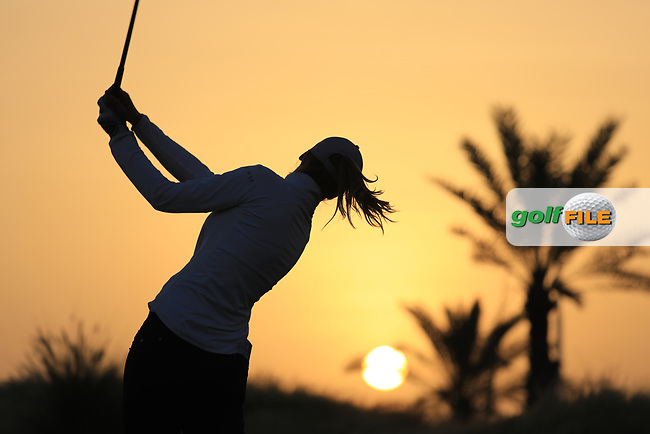 Tonje Daffinrud (NOR) during the first round of the Fatima Bint Mubarak Ladies Open played at Saadiyat Beach Golf Club, Abu Dhabi, UAE. 10/01/2019<br /> Picture: Golffile | Phil Inglis<br /> <br /> All photo usage must carry mandatory copyright credit (&copy; Golffile | Phil Inglis)