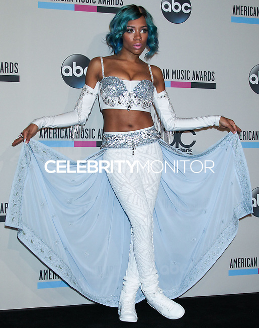 LOS ANGELES, CA - NOVEMBER 24: Lil Mama in the press room at the 2013 American Music Awards held at Nokia Theatre L.A. Live on November 24, 2013 in Los Angeles, California. (Photo by Celebrity Monitor)
