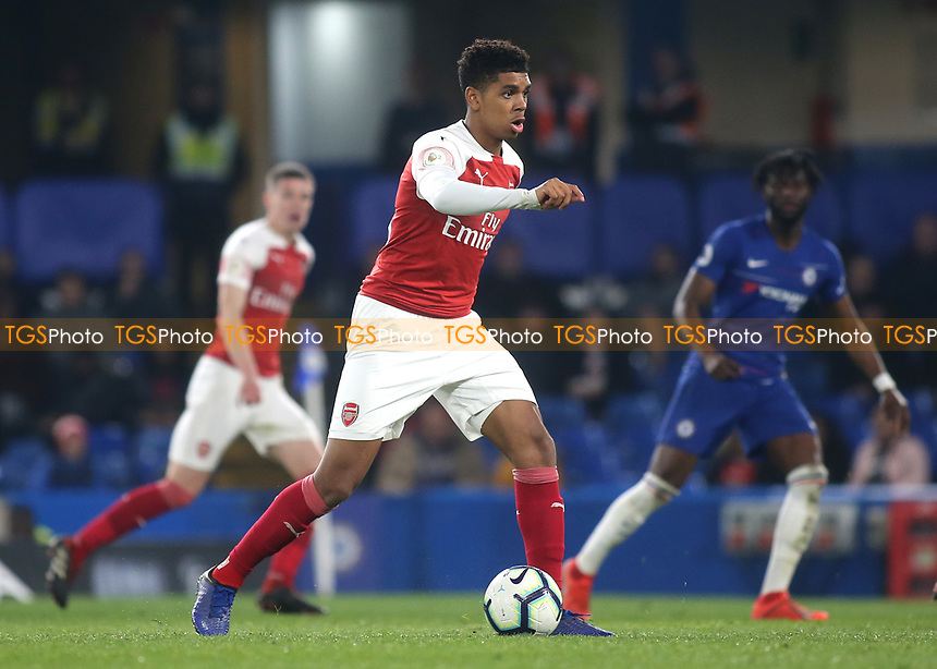 Tyreece John-Jules of Arsenal in action during Chelsea Under-23 vs Arsenal Under-23, Premier League 2 Football at Stamford Bridge on 15th April 2019