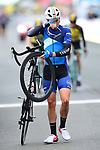 A bloodied Rory Townsend (BIK) crosses the finish line after a crash at the end of Stage 1 of the Tour de Yorkshire 2017 running 174km from Bridlington to Scarborough, England. 28th April 2017. <br /> Picture: ASO/A.Broadway | Cyclefile<br /> <br /> <br /> All photos usage must carry mandatory copyright credit (&copy; Cyclefile | ASO/A.Broadway)