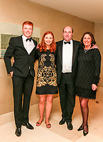 The Dawson family during the Golfing Union of Ireland Champions Dinner at Carton House, Maynooth, Co. Kildare. 01/02/2019<br /> Picture: Golffile | Thos Caffrey<br /> <br /> <br /> All photo usage must carry mandatory copyright credit (&copy; Golffile | Thos Caffrey)