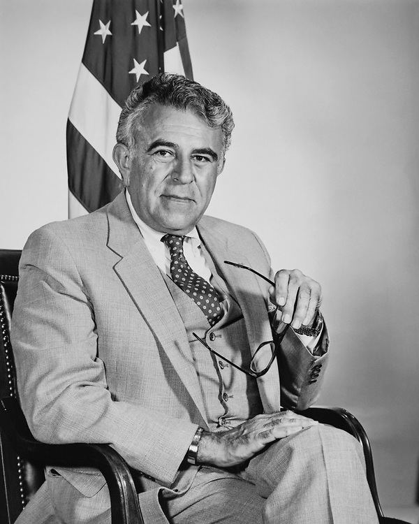 Portrait of Rep. Benjamin A. Gilman, R-N.Y., on Aug. 17, 1983. (Photo by CQ Roll Call via Getty Images)