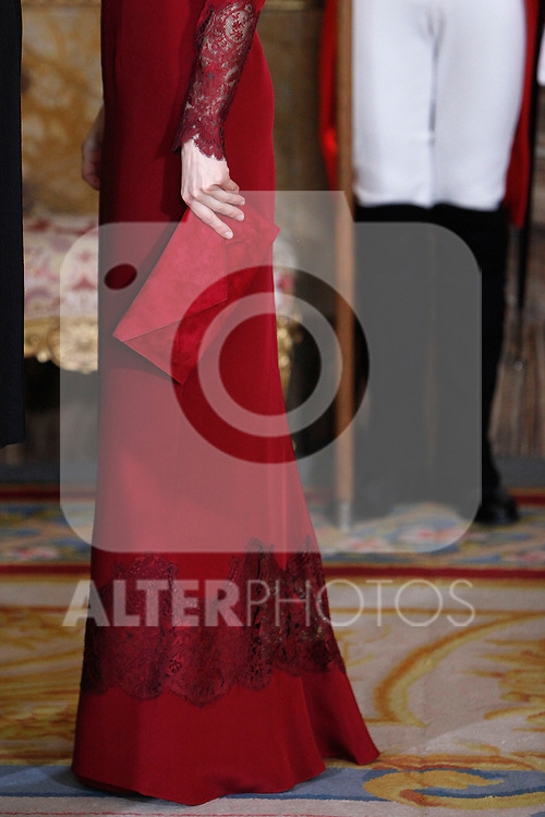 Princess Letizia of Spain attends the reception of the diplomatic corps in Spain at Palacio Real. January 23, 2013. (ALTERPHOTOS/Caro Marin)