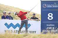Sebastien Gros (FRA) on the 8th tee during Round 2 of the Dubai Duty Free Irish Open at Ballyliffin Golf Club, Donegal on Friday 6th July 2018.<br /> Picture:  Thos Caffrey / Golffile
