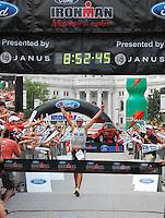Maik Twelsiek wins the Ironman on Sunday, 9/9/07, in Madison, Wisconsin