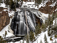 Gibbon Falls in Yellowstone Park is always picturesque.  This was taken in the middle of the winter.