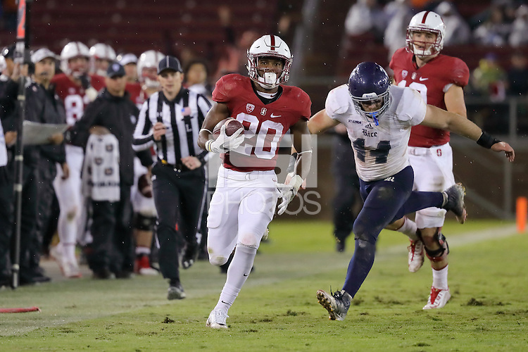 Stanford, CA - November 26, 2016: Stanford defeats Rice 41-17 at Stanford Stadium.