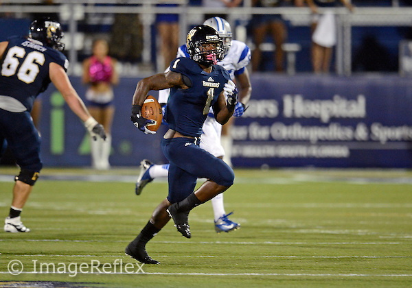 Florida International University football player wide receiver Willis Wright (1) plays against Middle Tennessee State University on October 13, 2012 at Miami, Florida. MTSU won the game 34-30. .