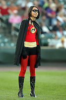 July 1st 2008:  The Rochester Red Wings held super hero day during a game at Frontier Field in Rochester, NY.  Photo by:  Mike Janes/Four Seam Images
