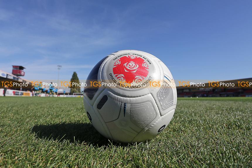 The National League ball during Dagenham & Redbridge vs Hartlepool United, Vanarama National League Football at the Chigwell Construction Stadium on 14th September 2019