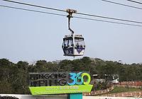 General views of a Ngong Ping 360 cable car from Lantau Island, Hong Kong on 6.4.19.