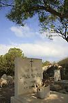 Israel, Carmel coast, Armenian cemetery near Atlit .
