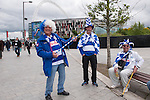 Queens Park Rangers 1 Derby County 0, 24/05/2014. Wembley Stadium, Championship Play Off Final. Queens Park Rangers supporters. The Championship Play-Off Final between Queens Park Rangers and Derby County from Wembley Stadium.  Photo by Simon Gill.